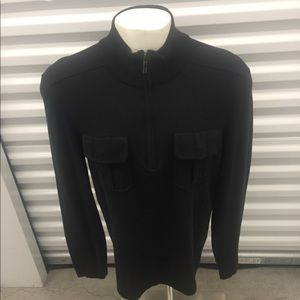Kennth Cole quarter zip up two pocket sweater